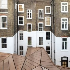 """hats off to this architect. """"When A Copper Roof Steals The Show In A Working Environment."""" This is a working place of GMS Estates in London. The design by Emrys Architects Architecture Design, Amazing Architecture, Contemporary Architecture, Landscape Architecture, London Architecture, Building Architecture, Exterior Design, Interior And Exterior, Georgian Townhouse"""