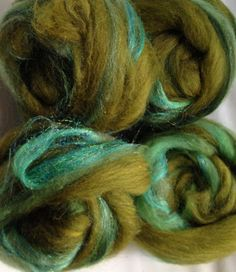 Forest Canopy Smooth Hand Pulled Roving  by AlmaPark on Etsy, $18.05