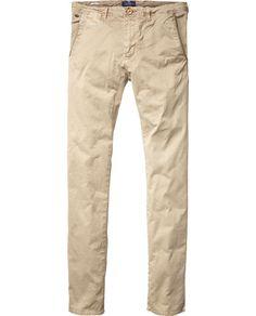 Slim fit chino with denim washing   Pants   Men Clothing at Scotch & Soda