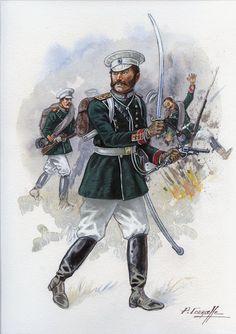Russia; Imperial Guard, Semenovski Regiment, Officer, Russo-turkish War, 1877