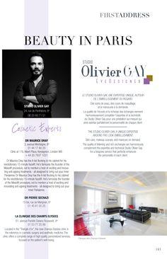 Article sur le Studio Olivier Gay dans le magazine First Luxe.