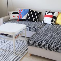 My Attic: Today's Crush: Pina Colada {love the seat cover-for a pull out couch-sleeping bed for guest}