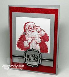 I Caught Santa on Camera! | Stampin' Up! Demonstrator Ann M. Clemmer & Stamper Dog Card Ideas