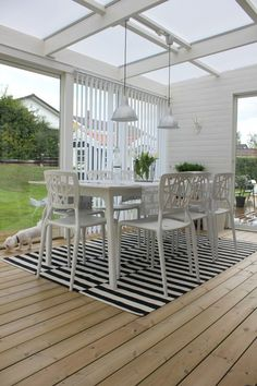 Inspiration & design - Like this sunroom! Veranda Pergola, Deck With Pergola, Patio Roof, Pergola Patio, Outdoor Landscaping, Backyard, Outdoor Areas, Outdoor Rooms, Outdoor Dining