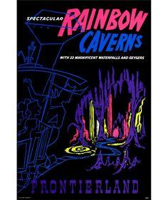Original Rainbow Caverns attraction poster.