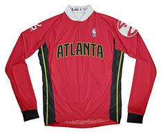 958db0ba0 NBA Atlanta Hawks Mens Long Sleeve Cycling Away Jersey Large Red -- Visit  the image link more details.