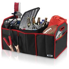 Searching for a fire starter in a messy trunk can take up valuable camping or tailgating time. This organizer has a place for everything and folds up neatly when not in use. Collapsible Organizer and Cooler Set, about $13; Car and Driver, T.J.Maxx