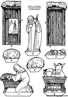 nativity diorama christmas coloring pages 04