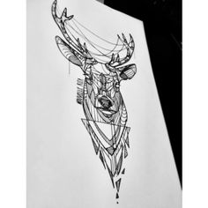 #nouvellerita #stag #tattoosketch #triangles #etching