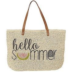 Chic Happens Straw Tote - Natural-Natural-0152896426615  | Burkes Outlet