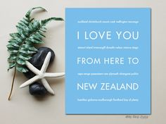 I Love You From Here To #NEWZEALAND #travel #art |  @hopskipjumpart | hopskipjumppaper.com ~ @asifahsankhan