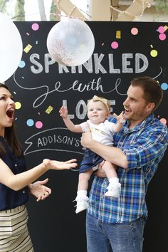 "DeAnna Pappas Stagliano & Stephen Stagliano's daughter's first birthday party... ""Sprinkled With Love"""