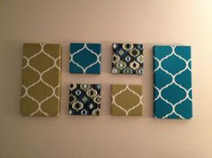 Fabric Wall Art easy fabric covered canvas wall art | fabric covered, canvas wall