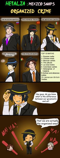 Our countries and their mafias. You know the worst ? Mexico is not totally wrong :P
