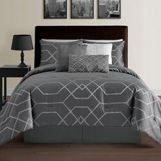 eLuxurySupply Hampton 7 Piece Comforter Set Size: California King, Color: Gray