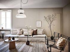 Home Interior Decoration Ideas Beige Living Rooms, Beautiful Living Rooms, Living Room Decor, Living Room Inspiration, Interior Inspiration, Design Inspiration, Greige, Beige Walls, Minimalist Decor