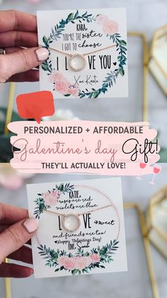 The perfect galentine's day gift for your bestie/mom/aunt/sister they'll cherish for a lifetime! This valentine's day gift idea is sure to make anyone feel extra loved! Personalized and Affordable Galentines Day Gift Ideas For Her Valentine Gifts For Mom, Diy Gifts For Mom, Valentines Diy, Present For Mom, Christmas Present Ideas For Mom, Diy Birthday Gifts For Boyfriend, 18th Birthday Gifts For Best Friend, Mom Birthday Gift, Gift For Sister