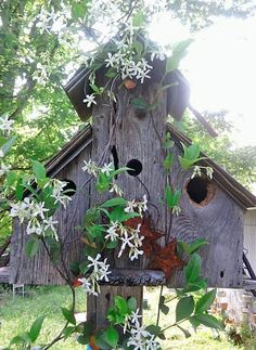 Red Stick Ranch: weathered bird house
