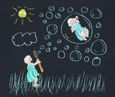 Blowing bubbles - Embla's secret corner