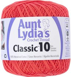 Coats Aunt Lydia/'s Crochet Cotton Thread Classic Size 10 Orchid Pink 154-401