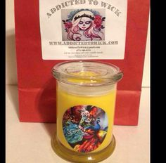 Oshun Candle scented in Sunflower.   Custom Soy Candles. Like us in FB: Addicted To Wick. Follow us on Instagram & Twitter: AddictedToWick  For ordering info, email us at AddictedToWick@gmail.com or call/text/whatsapp (973) 980-0319