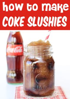 Slushie Recipe for Kids and Adults! Coca-Cola slushies are the perfect addition to any day, and they're so EASY to make at home! Skip the icee and slurpee machines, and make your own instead! Go grab the recipe and give it a try this week! Slush Recipes, Milkshake Recipes, Smoothie Recipes, Protein Smoothies, Fruit Smoothies, Coke Slushie Recipe, Cola Recipe, How To Make Slushies, Easy Drinks To Make