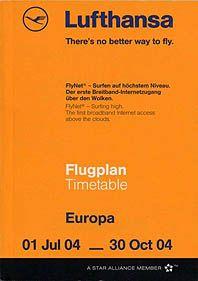 Lufthansa Timetable Europe edition, 2004