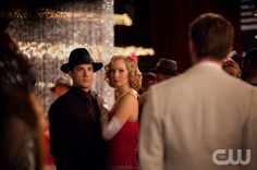"""THE VAMPIRE DIARIES """"Do Not Go Gentle"""" Pictured (L-R): Michael Trevino as Tyler, Candice Accola as Caroline, and Joseph Morgan as Klaus. Quantrell Colbert/The CW ©2012 The CW Network, LLC. All Rights Reserved."""