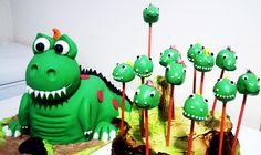Dinosaur Cake and Cakepops