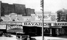 Bayards Corner and adjacent shops, corner of Howard and Currie Streets, Nambour, ca. late 1920s / Picture Sunshine Coast, Sunshine Coast Council | thefashionarchives.org