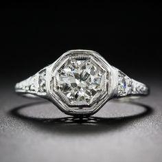 $3450.00 Platinum Art Deco Diamond Ring - 10-1-6942 - Lang Antiques