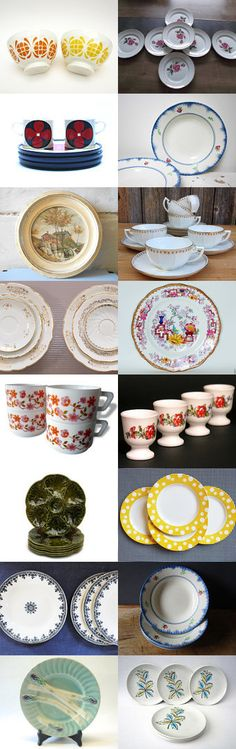 Tableware from the Vintage France Team by Gaël B. on Etsy--Pinned+with+TreasuryPin.com #TheFrenchAtticBazaar #vintagefr #vintagefrance #frenchvintage #etsygifts #etsyfinds #antique #tableware #homedecor #vintage #shabbychic #countrycottage