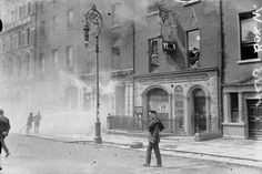 Photo taken outside the YMCA on O'Connell Street Dublin during the Irish Civil War in 1922.