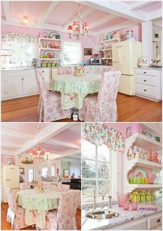 A Pastel Kitchen with Flower Power