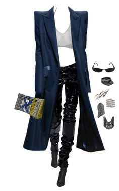 """""""Untitled #4364"""" by kimberlythestylist ❤ liked on Polyvore featuring Fannie Schiavoni, Balenciaga, Lynn Ban and Versace"""