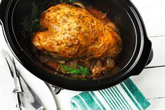 CanolaInfo | Recipes & Cooking |Slow and Easy Turkey Breast with Dill | Nancy Hughes | Turkey should be served more than a few times a year. It's economical, oh-so-good for an entrée and yields great leftovers for limitless recipes. Take a break from the norm of sage or rosemary and try a garden fresh, lemon-dill approach on your turkey. Canola oil lets these bright flavors shine through. Slow cooking also helps the dish retain its juices for an extra rich – and effortless – au jus.