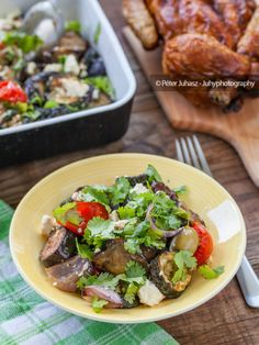 Greek baked vegetable salad with feta