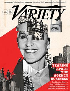 As usual, the one-eye sign was prominently featured on a whole bunch magazine covers, clearly reminding us who controls mass media. Here's Ellen Degeneres on the cover of Variety with one of her eyes being removed by some dudes.