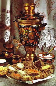Russian tea table setting. #Russia