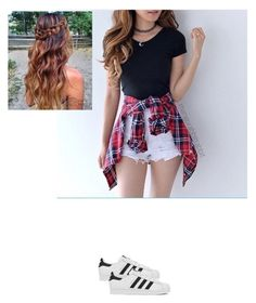 """""""Simple"""" by jbird5601 ❤ liked on Polyvore featuring adidas"""