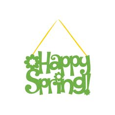 Descriptions 7 1/4 x 11 Inch Happy Spring Glitter Sign Features - Easter Ships within 4 Business Days