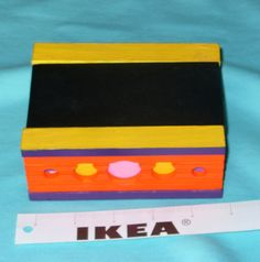 Multiuse colorful painted box by CustomBox on Etsy, $20.00
