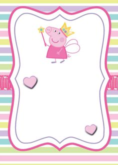 Swara is turning Peppa Pig Birthday Invitations, Pig Birthday Cakes, Baby Invitations, 4th Birthday, Invitacion Peppa Pig, Cumple Peppa Pig, Pippa Pig, Pig Crafts, Pig Party