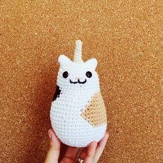 Gaticornio con manchitas - hechos por Florencia Rodríguez para Kitsune Shop  #crochet #amigurumi #caticorn #cute
