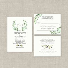 Wedding Invitation Suite DEPOSIT DIY Rustic Boho by SplashOfSilver