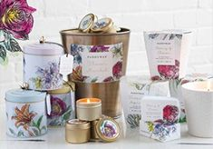 A celebration of our favorite blooms, our new Flower Market is sure to delight the senses. Repurpose the artfully designed ceramics for a potted plant when candle life is over. Paddywax Candles, Fragrant Candles, Flower Market, Verbena, Soy Wax Candles, At Home Store, Glass Jars, Artisan, Fragrance