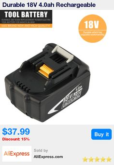 Durable 18V 4.0ah Rechargeable Lithium Battery Replacement Power Electric Tool Battery For MAKITA BL1830 * Pub Date: 13:42 Oct 23 2017