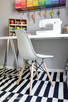 craft room tour - Office Makeover Contest