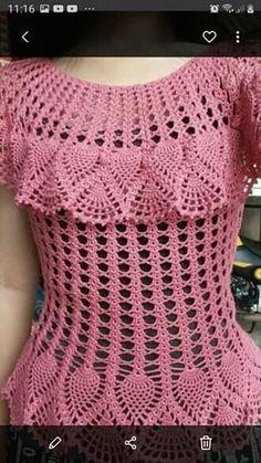 Crochet Beach Dress, Crochet Summer Tops, Crochet Shirt, Crochet Jacket, Crochet Ripple, Crochet Dishcloths, Baby Girl Crochet, Crochet Woman, Crochet Bedspread Pattern
