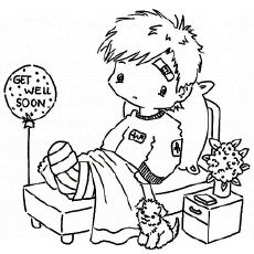 Get Well Soon Baby Coloring Pages Get Well Cards Printable